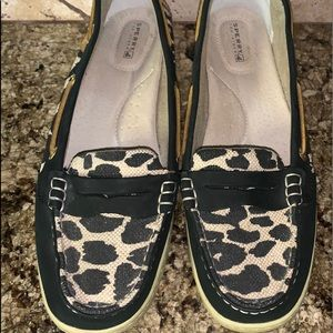 Sperry Pennyfish Leopard Loafer